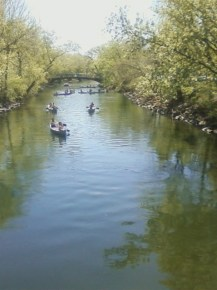 Middle Schoolers in Canoes