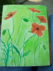 filling in the background - next one I will put the stems over a lighter background,