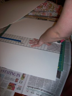 cutting down the paper