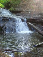 falls at the top of the glen