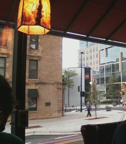 looking out from Colectivo coffee