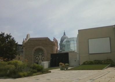 sculpture garden at Overture Center